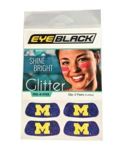 Michigan Wolverines Navy Temporary Tattoo Glitter