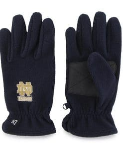 Notre Dame Fightin Irish Navy 47 Brand Fleece Gloves