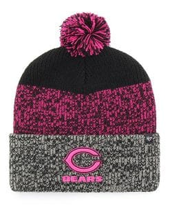 Chicago Bears Women's 47 Brand Pink Black Static Cuff Knit Hat