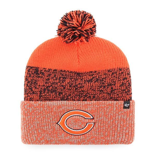 e32f9d80a729b2 Chicago Bears 47 Brand Orange Static Cuff Knit Hat - Detroit Game Gear