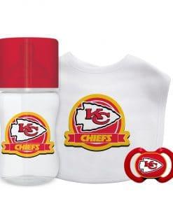 Kansas City Chiefs Red Baby Gift Set 3 Piece
