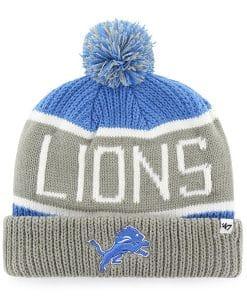 Detroit Lions 47 Brand Blue Raz Calgary Cuff Knit Hat