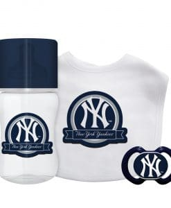 New York Yankees Navy Baby Gift Set 3 Piece