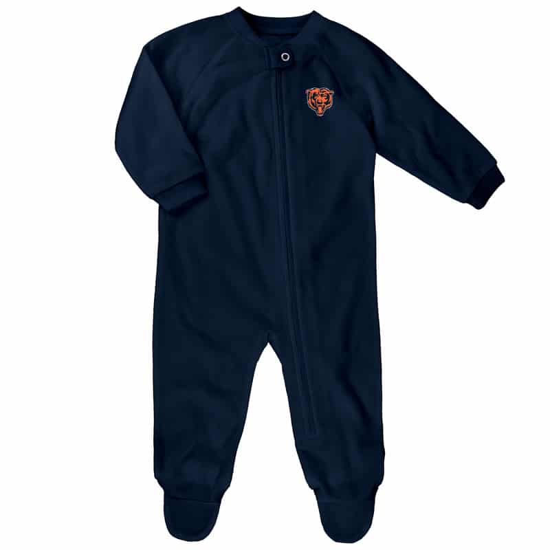 8599d7c7d15ce Chicago Bears Baby Navy Blanket Sleeper Coverall - Detroit Game Gear