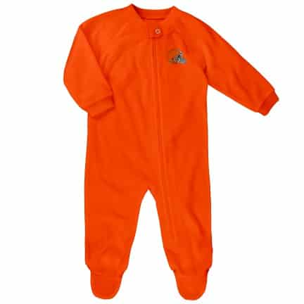 new product 74a4d a4d84 Cleveland Browns 6/9M Baby Orange Blanket Sleeper Coverall