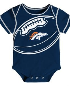 Denver Broncos Football Baby Navy Onesie Creeper