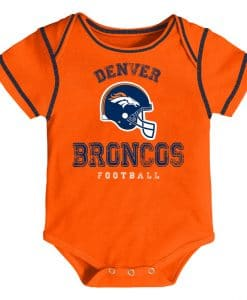 Denver Broncos Football Baby Orange Onesie Creeper