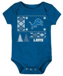 Detroit Lions Baby Blue Snow Onesie Creeper