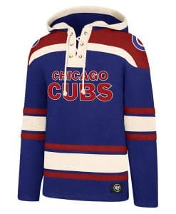 Chicago Cubs Men's 47 Brand Blue Pullover Jersey Hoodie
