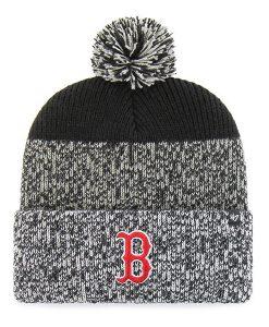 Boston Red Sox 47 Brand Static Black Cuff Knit Hat
