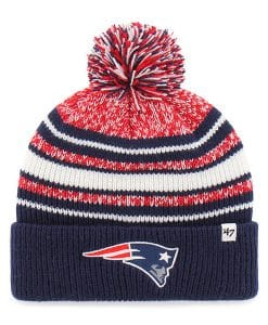 New England Patriots YOUTH 47 Brand Navy Bubbler Cuff Knit Hat
