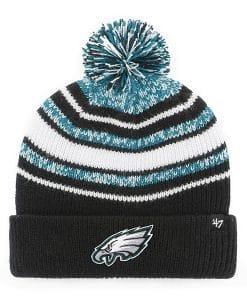 Philadelphia Eagles YOUTH 47 Brand Black Bubbler Cuff Knit Hat