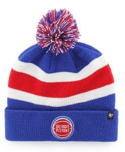 Detroit Pistons 47 Brand Royal Breakaway Cuff Knit Hat