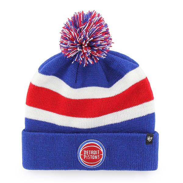 buy popular b2957 8f985 ... new zealand detroit pistons 47 brand royal breakaway cuff knit hat  3cbe6 3092b