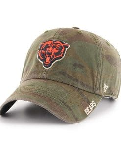 Chicago Bears 47 Brand Camo Outrigger Clean Up Adjustable Hat