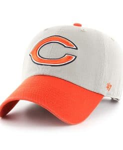 Chicago Bears 47 Brand Gray Clean Up Two-Tone Adjustable Hat