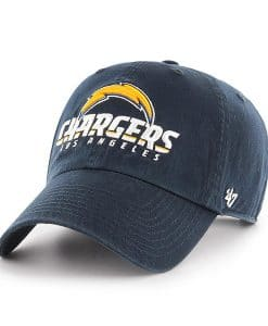 Los Angeles Chargers 47 Brand Navy Script Clean Up Adjustable Hat