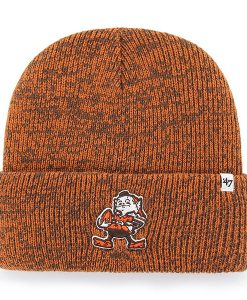 Cleveland Browns 47 Brand Legacy Brown Brain Freeze Cuff Knit Hat d3c33a772