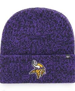 Minnesota Vikings 47 Brand Purple Brain Freeze Cuff Knit Hat