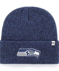 Seattle Seahawks 47 Brand Light Navy Brain Freeze Cuff Knit Hat