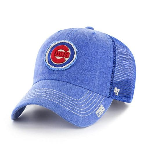 Chicago Cubs 47 Brand Royal Burnstead Mesh Adjustable Hat