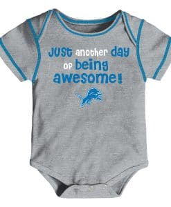 Detroit Lions 3/6 Months Baby Awesome Gray Onesie Creeper