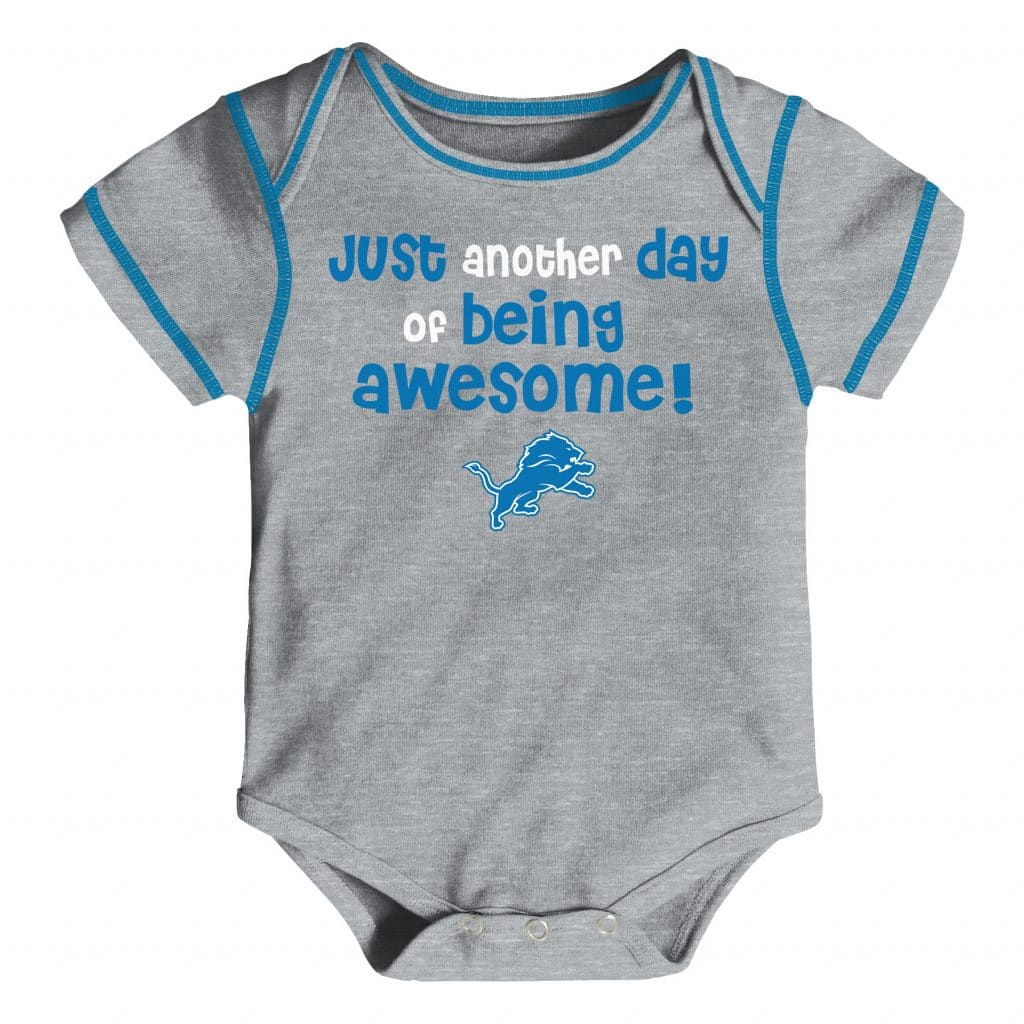 b0ad5057 Detroit Lions 3/6 Months Baby Awesome Gray Onesie Creeper