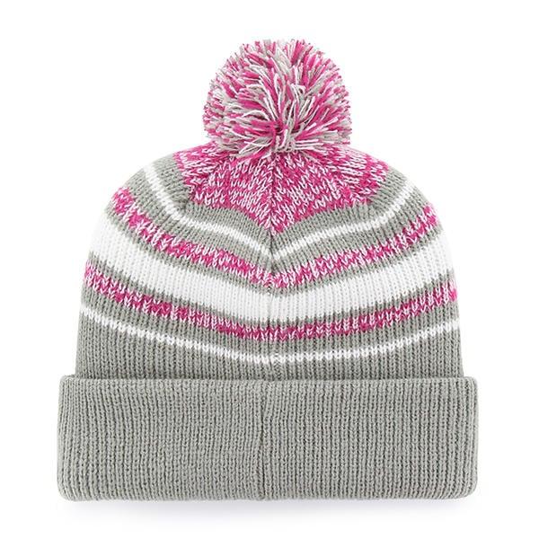 a38f9180 Green Bay Packers Girls KIDS 47 Brand Gray Pink Bubbler Cuff Knit Hat -  Detroit Game Gear