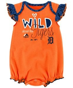 Detroit Tigers Girls Baby Orange Wild Onesie Creeper