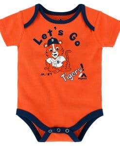 Detroit Tigers Baby Orange Let's Go Onesie Creeper