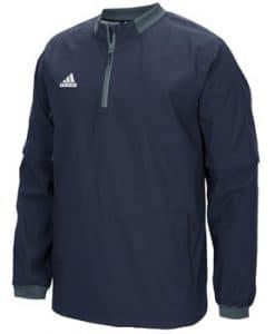 Men's Adidas Navy Fielder's Choice 1/4 Zip Long Sleeve Pullover