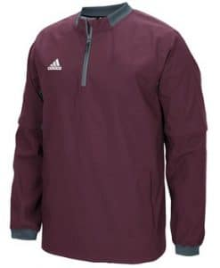 Men's Adidas Maroon Fielder's Choice 1/4 Zip Long Sleeve Pullover