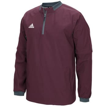 Men s Adidas Maroon Fielder s Choice 1 4 Zip Long Sleeve Pullover ... 34a8b6f62d4e
