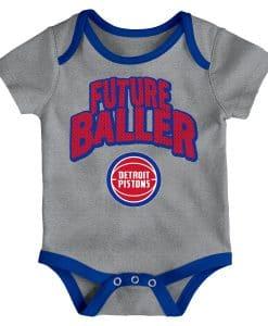 Detroit Pistons Baby Gray Future Baller Onesie Creeper