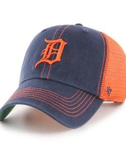 Detroit Tigers 47 Brand Trawler Navy Orange Clean Up Adjustable Hat