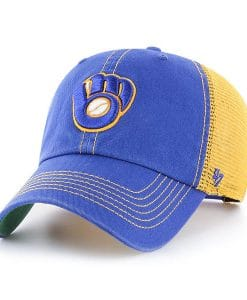 Milwaukee Brewers 47 Brand Trawler Blue Clean Up Adjustable Hat