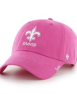 New Orleans Saints Women's 47 Brand Pink Miata Clean Up Hat