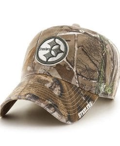 Pittsburgh Steelers 47 Brand Realtree Ice Clean Up Adjustable Hat