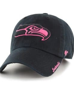 Seattle Seahawks Women's 47 Brand Black Pink Adjustable Hat