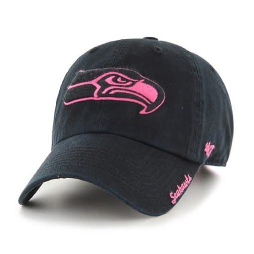 Seattle Seahawks Women's 47 Brand Black Pink Adjustable Hat
