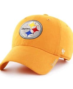 Pittsburgh Steelers Women's 47 Brand Gold Sparkle Team Color Clean Up Hat