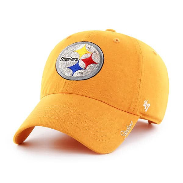 da4a8c9ff99314 Pittsburgh Steelers Women's 47 Brand Gold Sparkle Team Color Clean Up Hat
