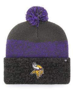 Minnesota Vikings 47 Brand Charcoal Static Cuff Knit Hat