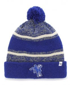 new arrivals 28b90 49640 Indianapolis Colts 47 Brand Legacy Royal Fairfax Cuff Knit Hat