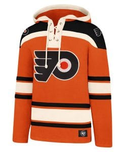 Philadelphia Flyers Men's 47 Brand Orange Vintage Pullover Jersey Hoodie