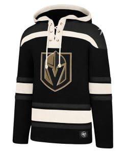 Vegas Golden Knights XL Men's 47 Brand Jet Black Pullover Jersey Hoodie