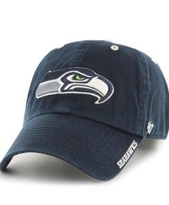 Seattle Seahawks 47 Brand Navy Ice Adjustable Hat