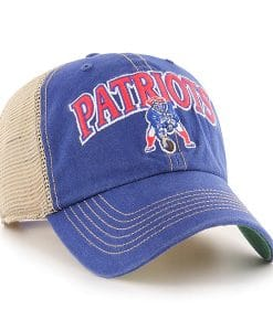 New England Patriots 47 Brand Royal Tuscaloosa Legacy Clean Up Vintage Hat