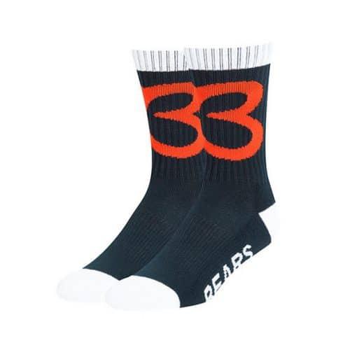 Chicago Bears LARGE 47 Brand Navy Legacy Bolt Sport Socks