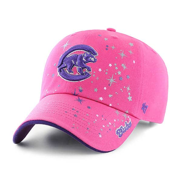 Chicago Cubs KIDS 47 Brand Bright Pink Girls Adjustable Hat - Detroit Game  Gear aa1509fc1eb